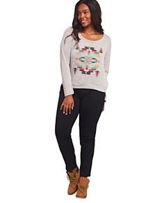 Aztec Pullover Sweater | Wet Seal Plus #curvy #plussize