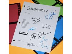 Serendipity Movie Signed Screenplay Autographed: John Cusack, Kate Beckinsale, Jeremy Piven, Bridget Moynahan, Eugene Levy, Molly Shannon