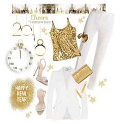 """CHEERS TO THE NEW YEAR !!!"" by shortyluv718 ❤ liked on Polyvore featuring Versace, Alexander McQueen, Giuseppe Zanotti, Yves Saint Laurent and Louis Vuitton"