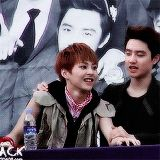 Cuties D.O and Xiumin ♥ #minseok #kyungsoo #exo