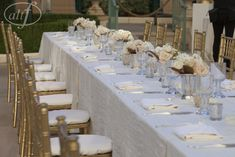 Italian Style Wedding Ideas. Long Banquet Tables Las Vegas Wedding Planner Andrea Eppolito Wedding at Bellagio Las Vegas Photo by Altf
