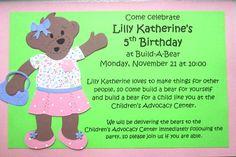 Build A Bear Birthday Invitations DIY Printable Birthdays