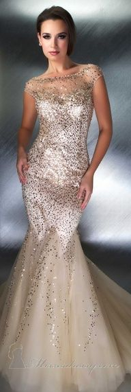 2013 Wedding Trend | Golden Gowns - Mac Duggal - fabulous! - #designer #weddingtrend #bridal