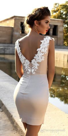 Wedding Gown victoria soprano 2018 bridal cap sleeves deep v neck heavily embellished bodice sexy modern mini skirt short wedding dress open v back (leila) zbv - You'll fall in love with these stunning gowns. Lace Mermaid Wedding Dress, Mermaid Dresses, Lace Dress, Civil Wedding Dresses, Bridal Dresses, Bridesmaid Dresses, Prom Dresses, Short Dresses, Girls Dresses
