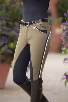 HKM Lauria Garrelli Wave Polo Classic Full Seat Breeches — EQUUS, they are so BEAUTIFUL! Love the contrast.