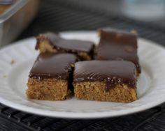 Peanut Butter Brownies with Milk Chocolate Ganache