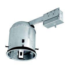 Feit electric 100 watt equivalent white led recessed retrofit utilitech remodel airtight ic recessed light housing common 6 in actual aloadofball Images