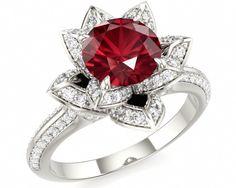 Red Ruby Wedding Ring