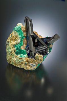 Azurite, (w. Malachite)