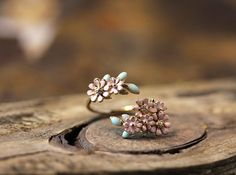 Hey, I found this really awesome Etsy listing at https://www.etsy.com/listing/203129989/dainty-floral-open-ring-colorful-flower