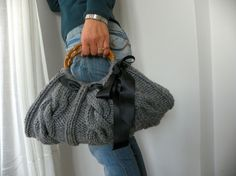 Women's Knit tote bag handmade bag accessories Knitted by NzLbags