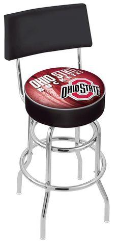 Ohio State Bar Stool L7C430OHIOST-D2  #coolstuff #gameroom #recroom#BarStool #CUSTOMMADE #OhioStateUniversity