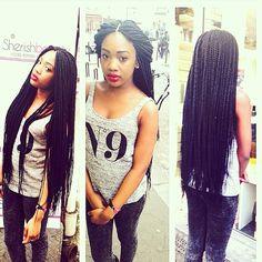 Photo taken by @sheriishaoki on Instagram, pinned via the InstaPin iOS App! (04/01/2014) Twist Box Braids, Micro Braids, Twists, Black Girls Hairstyles, African Hairstyles, Braided Hairstyles, Protective Style Braids, Protective Styles, Faux Loc