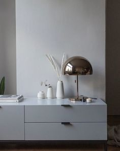 Minimalist styling for a small space from Minimalist Interior, Minimalist Home, Foyers, Media Unit, Floating Nightstand, Interior Styling, Small Spaces, The Unit, Metal