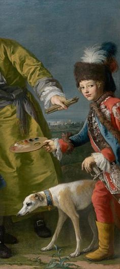 Painting by Jacopo Amigoni, ca. 1750-2, (detail) The singer Farinelli and friends, oil on canvas.