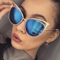 673a37153fe 2017 New Fashion Cat Eye Sunglasses Women Sun glasses Alloy Frame  Protection Brand Designer Retro Cat eye Glasses