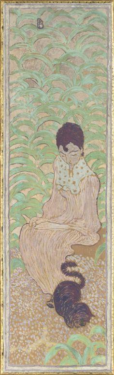 Pierre Bonnard (French, 1867-1947), Woman in the garden (Femmes au jardin), 1890- 1891, Musée d'Orsay,  Paris, France
