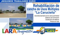 @Gobernación de Lara Rehabilitación Cancha de Usos Múltiples La Carucieña #JuandeVillegas #Iribarren #LaraProgresista