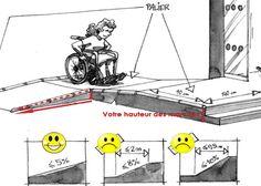 Rampe d'accès pour fauteuil roulant - accessibilité ERP
