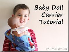 baby doll carrier tutorial at mama smiles