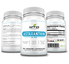 Astaxanthin 12mg - Highest Potency and Purity Astaxanthin Supplement. Supports Eye Health, Protect Skin From Damage and Wrinkles and Much More. 50 Veggie Capsules * You can find more details by visiting the image link.