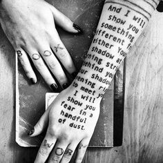 The Waste Land by T.S. Eliot tattoo - The Word Made Flesh