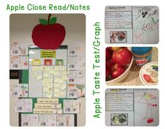 Such a fun way to do close reading! Original apple poem with writing extensions, and even a fun way to snack on apples, compare and graph! They LOVE this! :o)