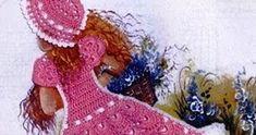 Gracinhas  de 'bonecas' com seus lindos vestidinhos de camponesa e que fazem a alegria e dão charme a nossa copa/cozinha…