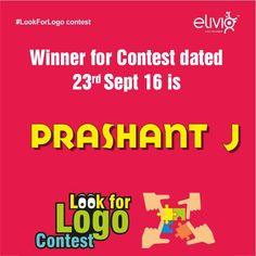 #LookForLogoContest #Winner Its raining gifts at Elivio.....  Announcing winner no. 2 for #LookForLogoContest.  Congratulation to Mr. Prashant J for winning the #LookForLogoContest dated September 23, 2016.