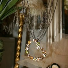 Beautifully crafted rhinestone necklace This goes great with anything as all the colors are browns and neutrals. You can dress it up or down. The chain has many layers creating a different effect. Jewelry Necklaces