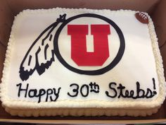 Facebook University Of Utah Utes Birthday Cakes