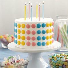 Cute-as-a-Button Candy Cake