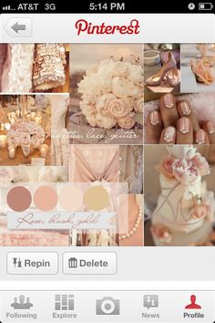 Rose, Blush, Pink Wedding.. colors of my daughters upcoming wedding
