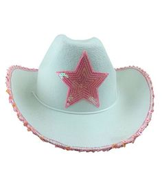 White Felt Cowgirl Hat With Pink Star - Glamorous Felt Co... http://www.amazon.com/dp/B00I869JT6/ref=cm_sw_r_pi_dp_Acnkxb0GEGZVN