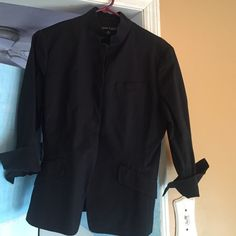 Fitted jacket Black cotton fitted jacket with 3/4 sleeve Anne Klein Jackets & Coats Blazers