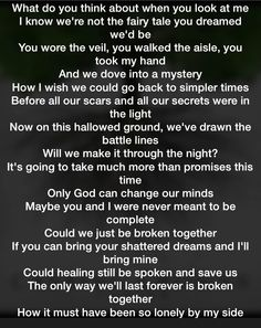 Casting crowns, broken together. This is on my heart today. We can't go back, but maybe we can go forward broken together
