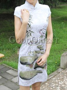 """Lotus Pond"" style chinese dress"