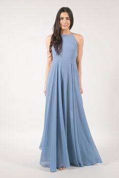 Payton Dusty Blue Flowy Maxi Dress. Dusty Blue Bridesmaid DressesDusty ... da738ab2a919