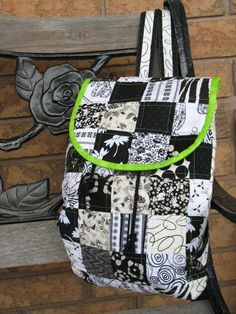 Patchwork Day-tripper Backpack Pattern + Sew Easy Shoulder Pads for Bag Straps by QuiltD.Signs
