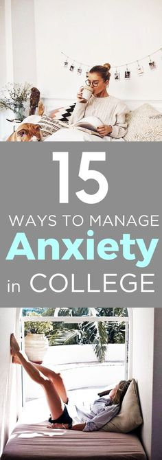 Freshman year can be a stressful time, but fortunately there are plenty of great ways to manage anxiety in college. We have the best anxiety reducing tips! College Life Hacks, College Years, College Tips, Freshman Year, College Checklist, College Dorms, Freshman Tips, College Football, College School