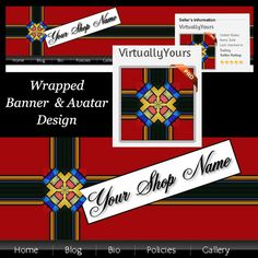 Wrapped Up Banner and Avatar Design | VirtuallyYours - Graphics on ArtFire
