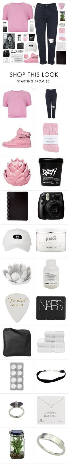 """we are the young we are the world"" by via-m ❤ liked on Polyvore featuring Topshop, Moschino, Johnstons, Zara Home, Fujifilm, philosophy, Pavilion Broadway, Davines, NARS Cosmetics and Xenab Lone"