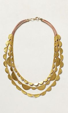 Brass Layered Necklace #anthrofave http://rstyle.me/n/s4x6wbh9c7