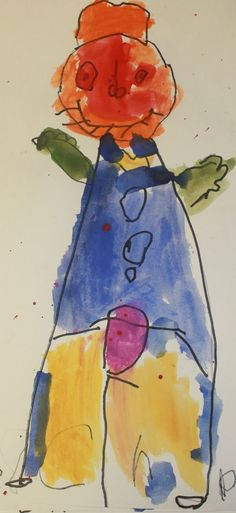 After reading Cynthia Rylant's book, Scarecrow, Kindergarteners at The Independent Day School, a private preschool, elementary school and middle school, drew their own version of a scarecrow on watercolor paper. They outlined their pencil lines in felt tipped markers and then painted with watercolors on their drawings. http://www.independentdayschool.org