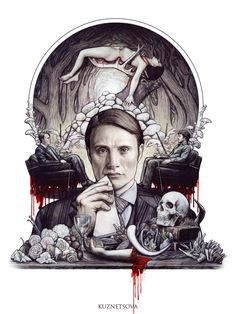 Hannibal drawing - Skullspiration.com - skull designs, art, fashion and more
