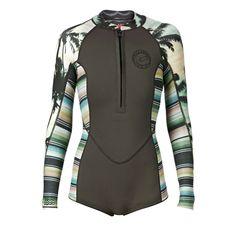 Billabong Wetsuits - Billabong Salty Daze 2mm Long Sleeve Shorty Wetsuit - Palm