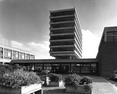 "modernism-in-metroland: "" Smith, Kline & French Offices, Welwyn Garden City by Arup Associates. Designed by Arup Associates, the Smith, Kline & French offices were a six storey brutalist block. Barbican, Le Corbusier, Brutalist, London City, Architecture, Will Smith, Modernism, Skyscraper, Brick"