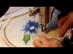 técnicas de bordados a máquina antigua - YouTube