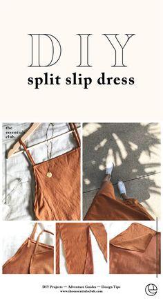 diy kleidung DIY: slip dress with leg gaps, # leg gaps Types Of Carpets Article Body: When yo Diy Clothing, Sewing Clothes, Clothing Patterns, Dress Sewing Patterns, Linen Dress Pattern, Sewing Shorts, Japanese Sewing Patterns, Diy Shorts, Robe Diy