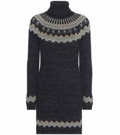 Knitted turtleneck sweater dress | Valentino